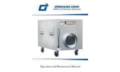 OmniAire - Model 2200C - HEPA Air Filtration Machine - Manual