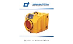 OmniAire - Model 600 Nitro (600N) - Portable HEPA Air Scrubber - Manual