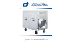 OmniAire - Model 2000C - HEPA Air Filtration Machine - Manual