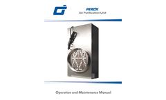 Omnitec Design PEROx - Model PG - Air Purifier - Dual Generator - Manual