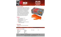 MCR NitriShield Grippaz™ - Model 60160 - Disposable Nitrile Gloves