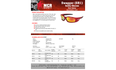 MCR Swagger - Model SR13R - Safety Glasses - Brochure