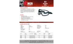 MCR Safety - Model 2310AF - Goggle, Clear AF Lens, Indirect Vent, Rubber Strap - Brochure