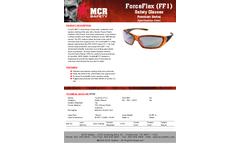 MCR ForceFlex - Model FF137 - Translucent Orange Frame, Silver Mirror Lens - Brochure