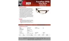 MCR ForceFlex - Model FF220 - Translucent Brown Frame, Clear Lens - Brochure