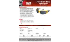 MCR ForceFlex - Model FF232 - Translucent Yellow Frame, Gray Lens - Brochure