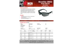 MCR Klondike - Model KD312 - Black Frame, Gray Lens - Brochure