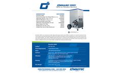 OmniAire - Model 1200V - HEPA Negative Air Machine - SpecSheet