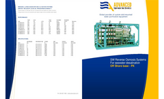 ADVANCEES - SWRO Off Shore Specifications 15000 GPD to 250000 GPD - Datasheet