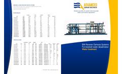 ADVANCEES - BWRO Medium 4,000 GPD TO 220,000 GPD - Datasheet
