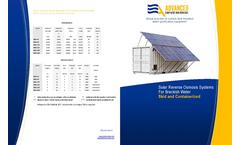 ADVANCEES - SBWRO - Solar Reverse Osmosis System Brackish Water - Datasheet