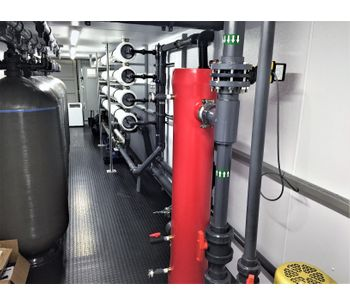 ADVANCEES - Model SW50000GPD-TURBO-C - Containerized Seawater Desalination Systems for the Industrial, Power and Municipal Markets. Reverse Osmosis