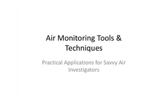 EPA Air Monitoring Tools and Techniques Datasheet