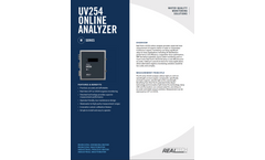 Real Tech M series UV254 Online Analyzer - Specification Sheet
