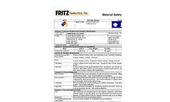 Material Safety Data Sheet (MSDS) Brochure