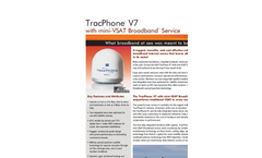 KVH - TracPhone V7 - Mini-VSAT Broadband Brochure