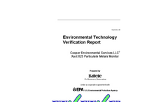 CES Xact 625 Particulate Metals Monitor - Environmental Technology Verification Report