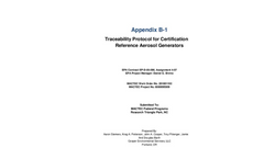 Traceability Protocol for Certification of Reference Aerosol Generators - Brochure