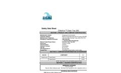 Clear Trax - High Sediment Load Clarifier - 250 Safety Data Sheet