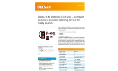 Delsar - Model LD3 - Mini Compact Seismic / Acoustic Listening Device for Hasty Search Brochure