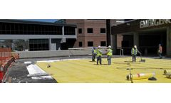 Building Materials solutions for plaza deck waterproofing sector