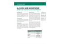 Model A-3000WB - Water-Based Adhesive for Swelltite Membrane - Technical Data Sheets