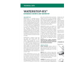 Waterstop RX - Expanding Concrete Joint Waterstop - Technical Datasheet