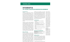 HYDROFIX Single Component Waterproofing System - Technical Data Sheets