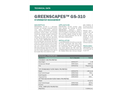 Greenscapes - Model GS-310 - Drainage Mat - Technical Data Sheets