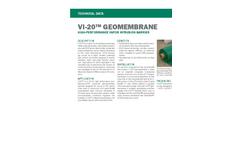 VI-20 GEOMEMBRANE High-Performance Vapor Intrusion Barrier - Technical Data Sheets