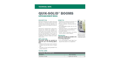 Quik-Solid - Superabsorbent Media Booms - Technical Datasheet