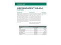 Greenscapes - Model GS-404 - Filter Fabric - Technical Data Sheets