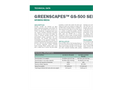 Greenscapes - Model GS-500 Series - Growing Media - Technical Data Sheets