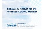 BREEZE3D Analyst for the Advanced AERMOD Modeler Brochure