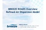 BREEZE ROADS Overview - Refined Air Dispersion Model - Brochure