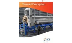 BCR - Model TDU - Thermal Desorption Units - Brochure