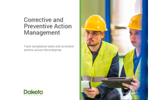 Dakota - Corrective and Preventive Action Management Software Brochure