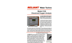 Reliant - Model 2100 - Dissolved Oxygen (DO) Monitoring And Control System - Brochure