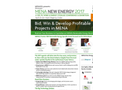 9th Annual Middle East and North Africa [MENA] New Energy 2017 - Brochure