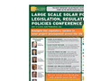 Large Scale Solar Power Legislation, Regulation & Policies Conference Brochure