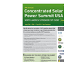 4th Annual Concentrated Solar Power Summit USA Brochure