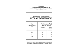 VSG Wicket Gate Grease - Lincoln Ventmeter Test