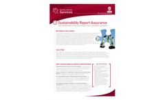 Sustainability Report Assurance Brochure (PDF 411 KB)