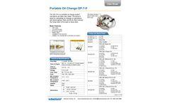 Reverso - Model OP-7-P-24 - Portable Fast Lube Oil Change System - Datasheet