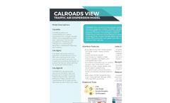 CALRoads View - Traffic Air Dispersion Model - Brochure