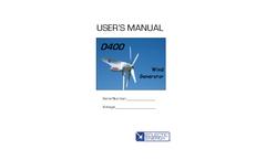 StealthGen - Model D400 - Wind Generator - Manual