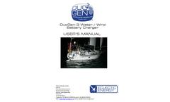 DuoGen - Model 3 Series - Combined Water and Wind Generator - Manual