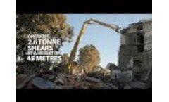 McMahon Services Ultra HIgh Reach Demolition Excavator Video