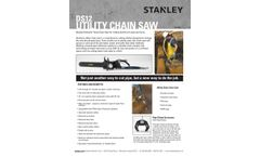 Stanley - Model DS12 - Utility Chain Saws - Brochure