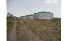 Mars - Cylindrical Bolted Modular Galvanized Steel Storage Tank
